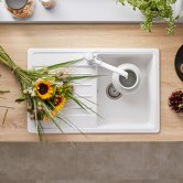 Blanco Legra 45 S 1.0 Bowl Inset Kitchen Sink with Waste and Reversible Drainer 780mm L x 500mm W - White