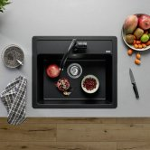 Blanco Legra 6 1.0 Bowl Inset Kitchen Sink with Waste 585mm L x 500mm W - Anthracite
