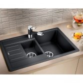 Blanco Legra 6 S Compact 1.5 Bowl Inset Kitchen Sink with Waste and Reversible Drainer 780mm L x 500mm W - Anthracite