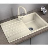 Blanco Legra 45 S 1.0 Bowl Inset Kitchen Sink with Waste and Reversible Drainer 780mm L x 500mm W - Jasmine