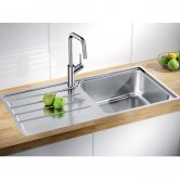 Blanco Lemis XL 6-IF 1.0 Bowl Inset Kitchen Sink with Waste and Reversible Drainer 1000mm L x 500mm W