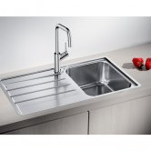 Blanco Lemis 45 S-IF 1.0 Bowl Inset Kitchen Sink with Waste and Reversible Drainer 860mm L x 500mm W