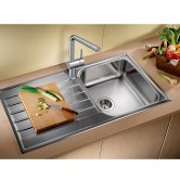 Blanco Livit XL 5 S 1.0 Bowl Inset Kitchen Sink with Waste and Reversible Drainer 1000mm L x 500mm W