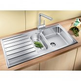 Blanco Livit 6 S 1.5 Bowl Inset Kitchen Sink with Waste and Reversible Drainer 1000mm L x 500mm W