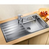 Blanco Livit XL 6 S 1.0 Bowl Inset Kitchen Sink with Waste and Reversible Drainer 1000mm L x 500mm W