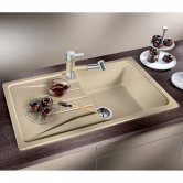 Blanco Sona 5 S 1.0 Bowl Inset Kitchen Sink with Waste and Reversible Drainer 860mm L x 500mm W - Jasmine