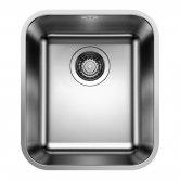 Blanco Supra 340-U 1.0 Bowl Undermount Kitchen Sink with Waste 370mm L x 430mm W - Stainless Steel Brushed