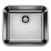 Blanco Supra 450-U 1.0 Bowl Undermount Kitchen Sink with Waste 480mm L x 430mm W - Stainless Steel Brushed
