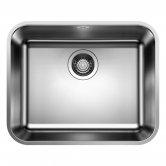 Blanco Supra 500-U 1.0 Bowl Undermount Kitchen Sink with Waste 530mm L x 430mm W - Stainless Steel Brushed
