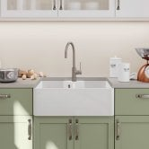 Blanco Villae Farmhouse 2.0 Bowl Inset Kitchen Sink with Waste 794mm x 490mm - Crystal White Gloss