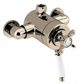 Bristan 1901 Exposed Concentric Top Outlet Shower Valve Only - Gold