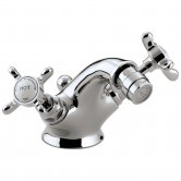 Bristan 1901 Bidet Mixer Tap with Pop Up Waste and Ceramic Disc Valves, Chrome
