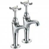 Bristan 1901 High Neck Kitchen Sink Taps, Pair, Chrome