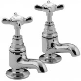 Bristan 1901 Vanity Basin Pillar Taps with Ceramic Disc Valves, Chrome