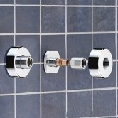 Bristan Wall Mount Fixings Chrome Plated