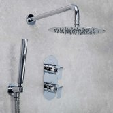 Bristan Alp Dual Concealed Mixer Shower with Shower Kit + Fixed Head