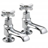 Bristan Art Deco Basin Taps with Ceramic Disc Valves, Chrome