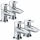 Bristan Capri Basin Taps and Bath Taps, Chrome