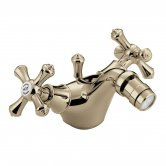 Bristan Colonial Mono Bidet Mixer Tap with Pop Up Waste Gold Plated