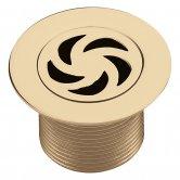 Bristan Luxury Shower Waste, 70mm Flange, Gold