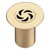 Bristan Luxury Shower Waste, 85mm Flange, Gold