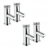 Bristan Decade Basin Taps and Bath Taps, Chrome