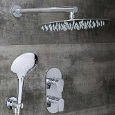 Bristan Hourglass Dual Concealed Mixer Shower with Shower Kit + Fixed Head