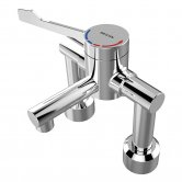 Bristan Thermostatic Deck Mounted TMV3 HTM64 Mixer Tap - Chrome