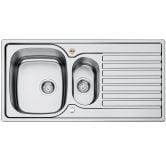Bristan Inox Easyfit 1.5 Bowl Universal Kitchen Sink 1000mm L x 500mm W - Stainless Steel