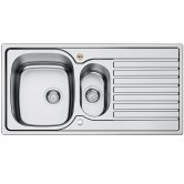 Bristan Inox Easyfit 1.5 Bowl Universal Kitchen Sink 1000mm L x 500mm W - Stainless Steel