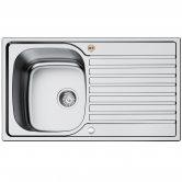 Bristan Inox Easyfit 1.0 Bowl Universal Kitchen Sink 860mm L x 500mm W - Stainless Steel