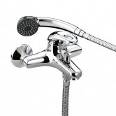 Bristan Java Wall Mounted Bath Shower Mixer Tap - Chrome Plated