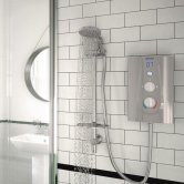 Bristan Joy Thermostatic Electric Shower, Metallic Silver, 8.5kW