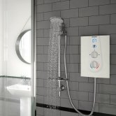 Bristan Joy Thermostatic Electric Shower, White, 8.5kW