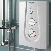Bristan Joy Thermostatic Electric Shower, White, 9.5kW