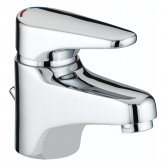 Bristan Jute Basin Mixer Tap with Pop Up Waste - Chrome Plated