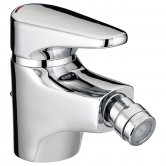 Bristan Jute Bidet Mixer Tap with Pop Up Waste - Chrome Plated