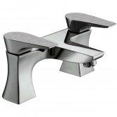 Bristan Metallix Hourglass Bath Filler Tap - Silver Sparkle
