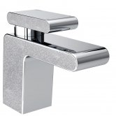 Bristan Metallix Pivot 1 Hole Bath Filler Tap - Silver Sparkle