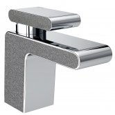 Bristan Metallix Pivot Basin Mixer Tap with Clicker Waste - Graphite Glisten