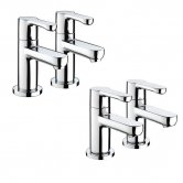 Bristan Nero Basin Taps and Bath Taps, Chrome