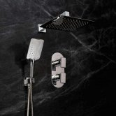 Bristan Pivot Dual Concealed Mixer Shower with Shower Kit + Fixed Head