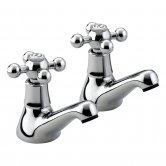 Bristan Regency Basin Taps - Chrome Plated
