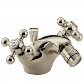 Bristan Regency Mono Bidet Mixer Tap with Pop Up Waste Gold Plated