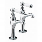 Bristan Renaissance High Neck Kitchen Sink Taps, Pair, Chrome