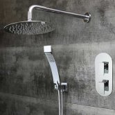 Bristan Sail Dual Concealed Mixer Shower with Shower Kit + Fixed Head