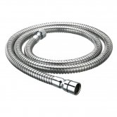 Bristan Cone to Nut Stainless Steel Shower Hose, 1.25m, 8mm Bore, Chrome