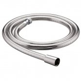 Bristan Cone to Nut Easy Clean Shower Hose, 1.25m, 8mm Bore, Chrome