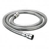 Bristan Cone to Cone Stainless Steel Shower Hose, 1.5m, 8mm Bore, Chrome