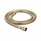 Bristan Cone to Nut Shower Hose, 1.5m, 8mm Bore, Gold